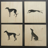 Set of 4 Greyhound Coasters