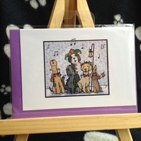 Carol Singing Christmas card