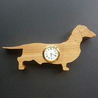 Shaped Smooth Dachshund Clock