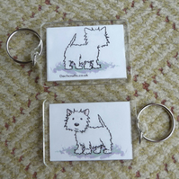 West Highland terrier Keyring