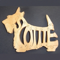 Wooden Scottie Puzzle