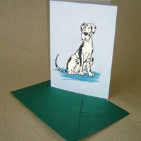 Harlequin Great Dane Card