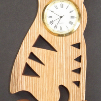 Shaped Cat clock