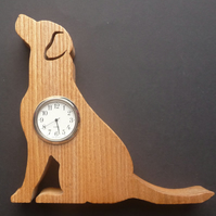Labrador Shaped clock