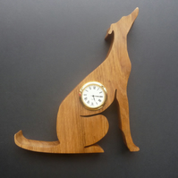 Shaped Greyhound clock