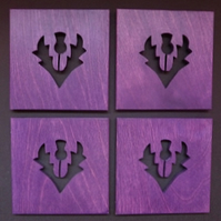 Set of 4 Thistle coasters