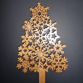 Wooden Snowflake  Tree