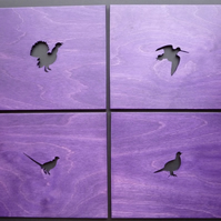 Set of 4 Bird Placemats