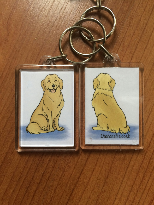 Golden retriever Keyring
