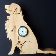 Shaped Golden Retriever Clock