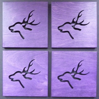 Set of 4 Stag coasters