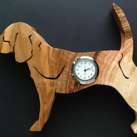 Shaped Beagle clock