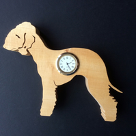 Shaped Bedlington Terrier Clock