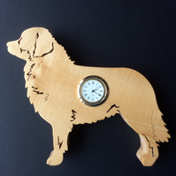 Shaped Bernese Mountain Dog Clock