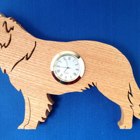 Shaped Border Collie Clock