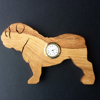 Shaped British Bulldog Clock
