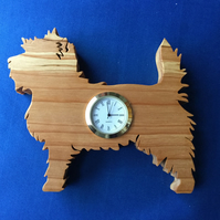 Shaped Cairn Terrier Clock