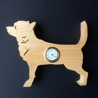 Shaped Chihuahua clock