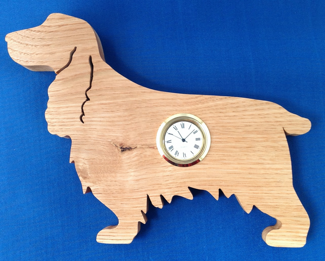 Shaped Cocker Spaniel Clock