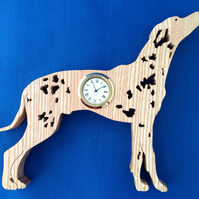 Shaped Dalmatian Clock
