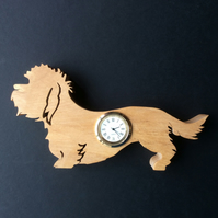 Shaped Dandie Dinmont Terrier Clock