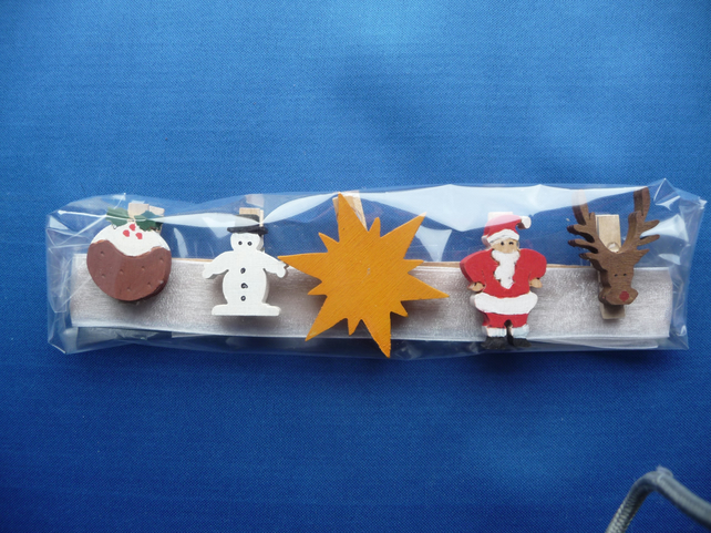 Christmas card holder set 4