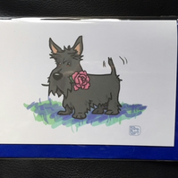 Scottie Rose Card