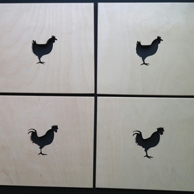 Set of 4 Chicken Placemats