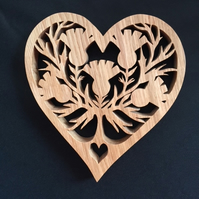 Heart Shaped Thistle Trivet