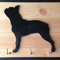 Boston Terrier Leadholder Keyholder