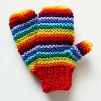 Red Rainbow Pixie Mittens - Warm and Durable Children's Mittens for Kids