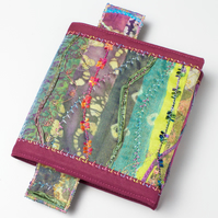 Woodland Journal With Bookmark - Embroidered Book Cover Mini Notebook Sketchbook