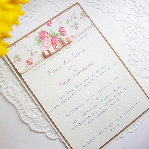The best wedding invitations for you: Vintage floral wedding ...