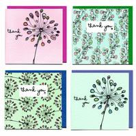 Thank You Cards-set of 4
