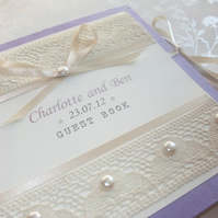 Vintage Bow Guest Book