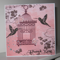 Thank You Birdcage Greetings Card