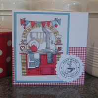 Aga Kitchen Card Keep Warm and Carry On