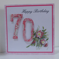 Age Specific Birthday Card - 21, 70, 40, 30, 18