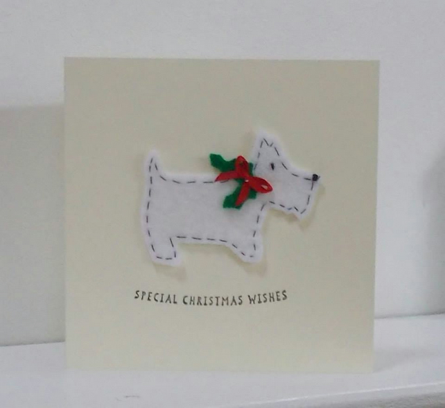 Scotty Dog Christmas Card