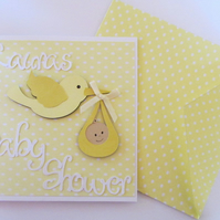 Personalised Baby Shower card