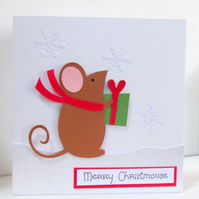 Happy Christmouse Christmas Mouse Card