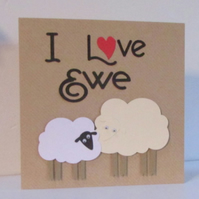 I Love Ewe Sheep Card