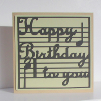 Musical Notes Birthday Card