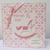Personalised Christening Card for Girl or Boy