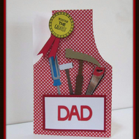 Dad DIY Apron Card