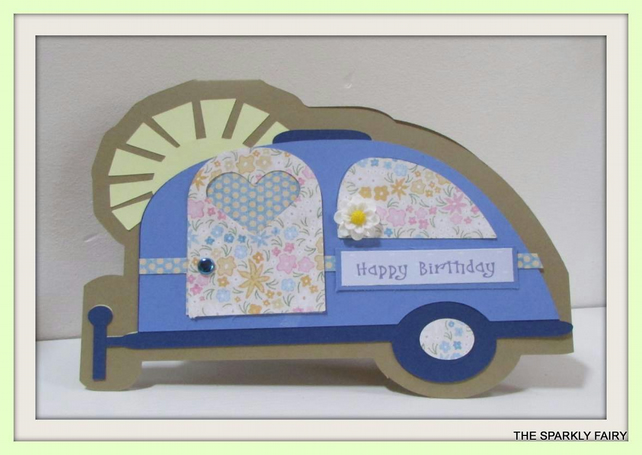 Retro Caravan Birthday Card