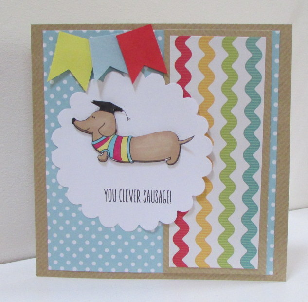 Clever Sausage Exam Congratulations Card