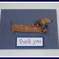 Dachshund Dog Thank You Card