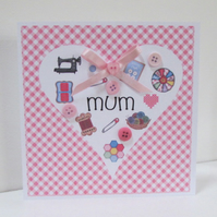 Sewing Card for Mum