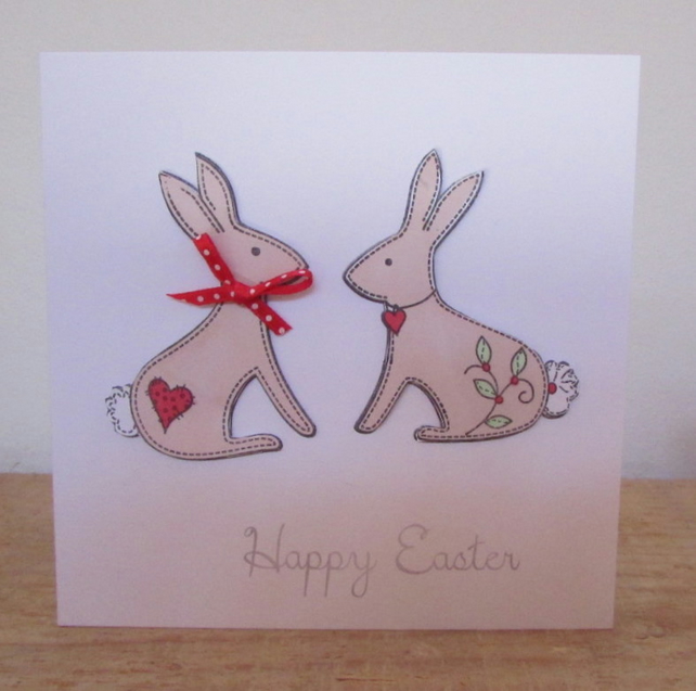Easter Rabbits Card
